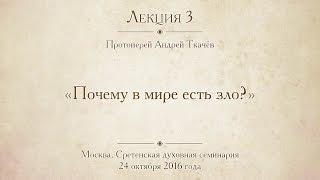 Лекция 3. Протоиерей Андрей Ткачёв. Почему в мире есть зло?