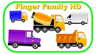 Heavy Equipment Cartoons Finger Family | Nursery Rhymes | KidsW (Construction Vehicles)