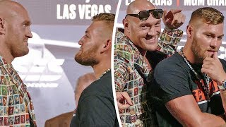 FUNNY!! FACE to FACE in Las Vegas - Tyson Fury vs. Tom Schwarz  |  Heavyweight Boxing