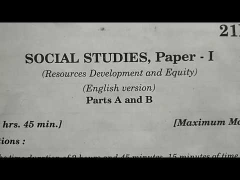 TS 10th Class Public Examinations || Social Studies Paper I