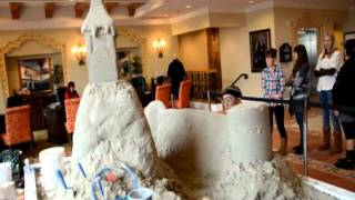 Archisand Builds Holiday Sand Sculpture at the Newport Coast Villas