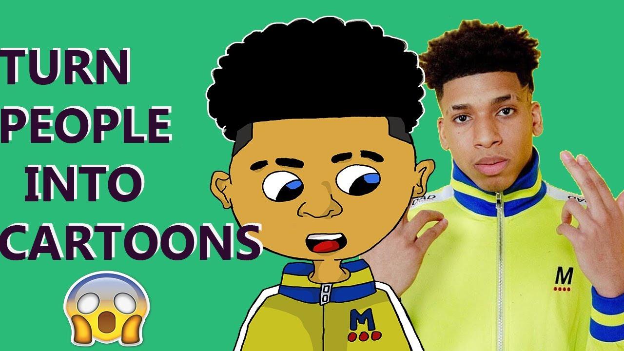 Drawing Nle Choppa Turn People Into Cartoons Youtube