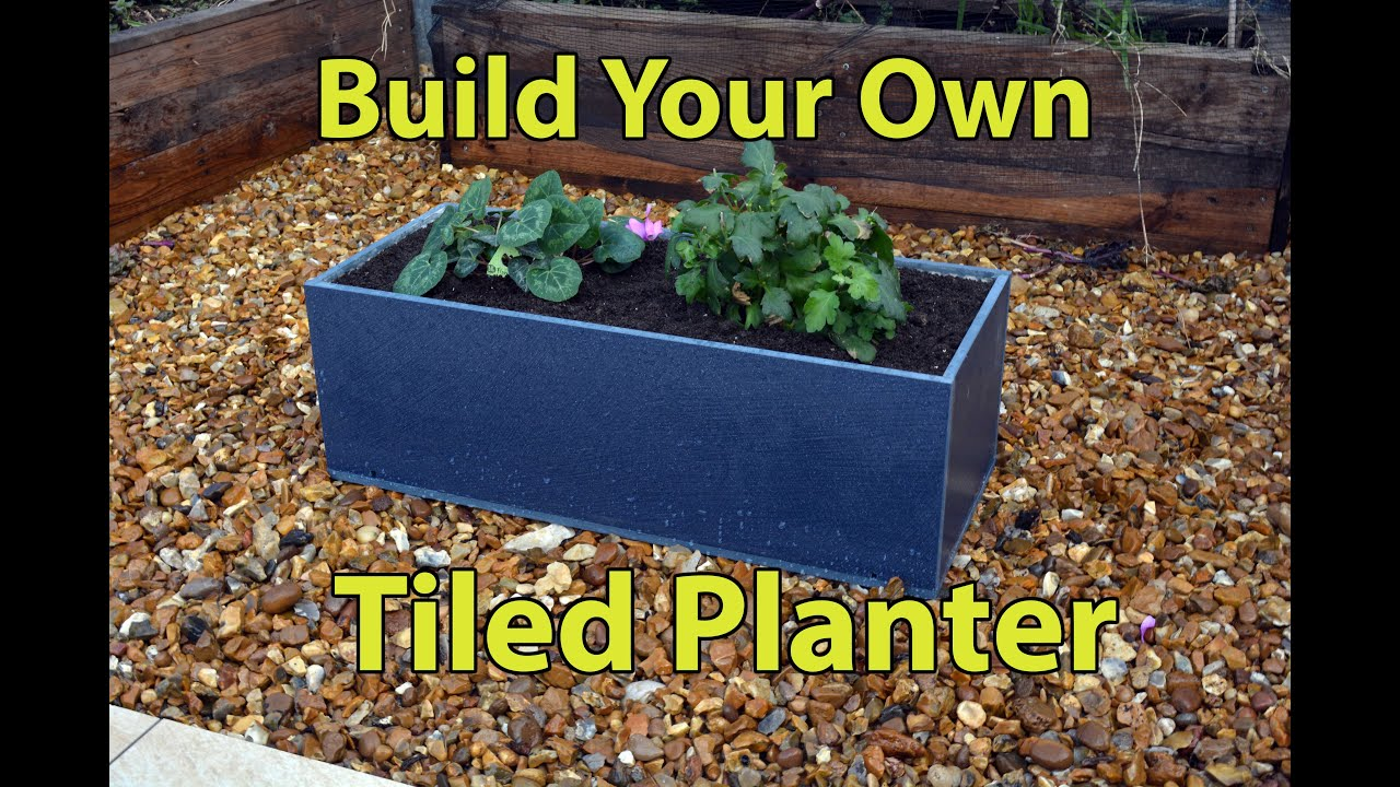Build A Tiled Planter Box Youtube