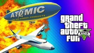 GTA 5 Online Glitches & Mods - Tank Teleport Glitch, Cargo Plane, Blimp Fun (GTA 5 Funny Moments)