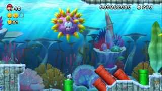 New Super Mario Bros. U 100% Walkthrough Part 5 - Sparkling Waters (3-1, 3-2, 3-T, 3-G, 3-S)