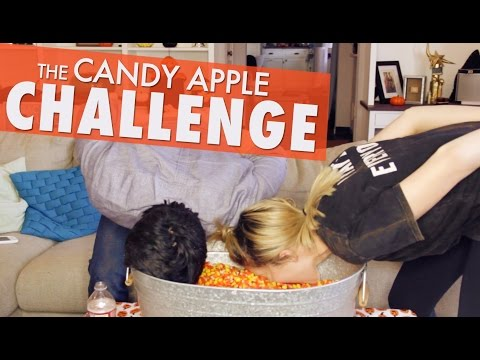 CANDY APPLE CHALLENGE w/ CHESTER SEE // Grace Helbig