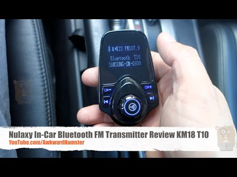 Nulaxy In-Car Bluetooth FM Transmitter Review KM18 T10