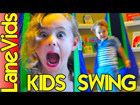 Best Hanging Swing Chair for Kids - Sensory Swing Chair [Unboxing, Install & Demo]   LaneVids