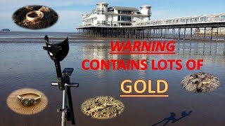 HUGE amount of GOLD found on the beach in 8 Days Metal Detecting XP Deus