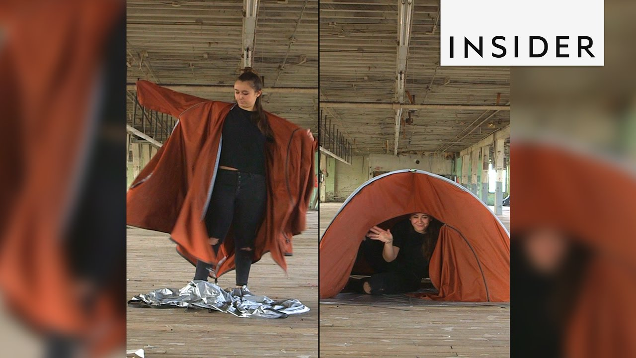 Tent Jacket A Tent That Transforms Into A Jacket Is Saving Refugees Youtube