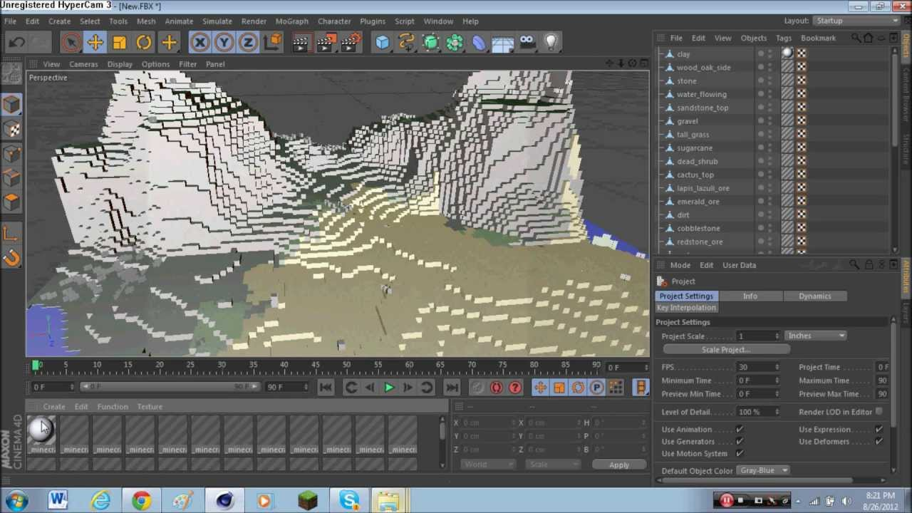 tutorial 1: how to export a minecraft world into 3d (cinema 4d