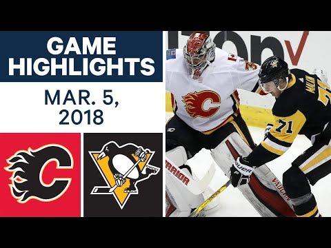 NHL Game Highlights | Flames vs. Penguins - Mar. 05, 2018