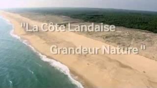 La côte landaise vue du ciel - BD