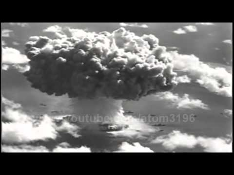 HD underwater atomic bomb explosion huge water cloud 1946