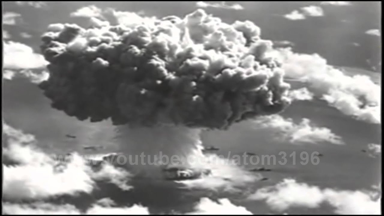 HD underwater atomic bomb explosion huge water cloud 1946 ...