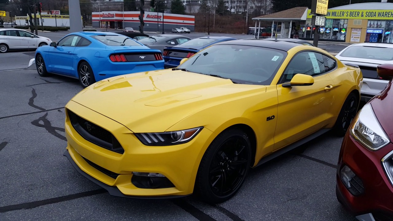 Triple yellow for mustang gt premium package