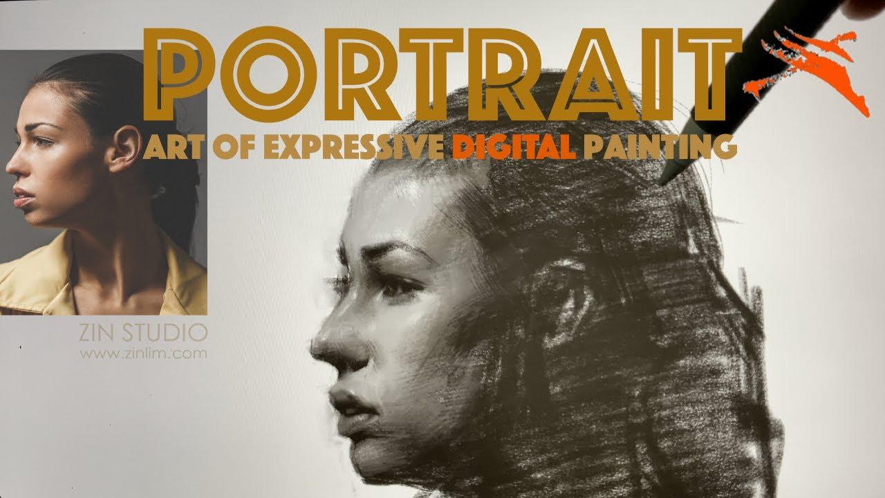 👩🎨 [Member only] Digital Drawing Demo: Expressive Portrait.