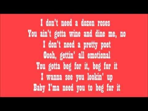 Beg For It Nicki Minaj Ft Ariana Grande | LyricLagoon