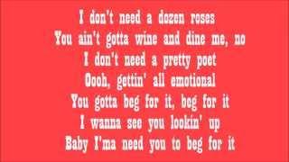 Beg For It Nicki Minaj Ft Ariana Grande LyricLagoon