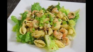 Receta Facil Pasta con Camarones y Brocoli al Ajo, how to easy delicious recipe pasta,