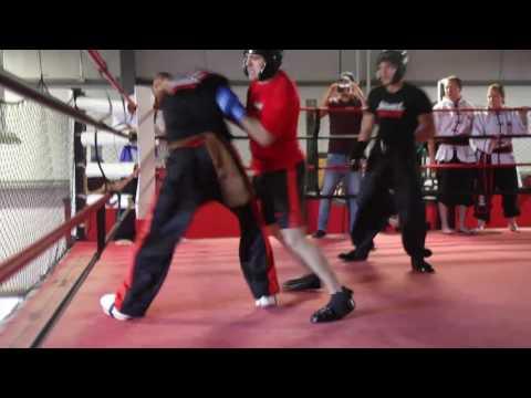 Black Sash 2 Sifu's on One Si Hing Fight Initiation