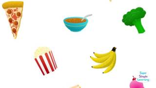 Простая песня про еду на английском языке для детей