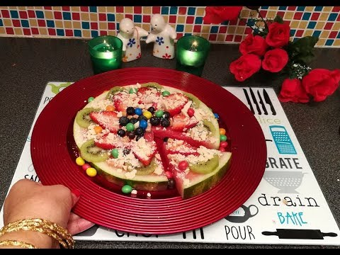 Watermelon Fruit Pizza In Kids Special - Recipe With Watermelon