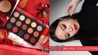 COLOURPOP X MULAN ⚔️ 3 Looks, Review + Comparisons!