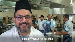 Huzoor inspected Langar Nizamat - Jalsa UK 2019