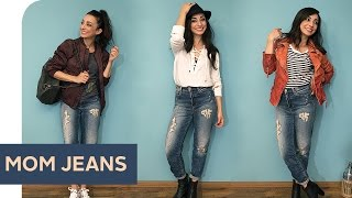 how to style 3 outfit ideen fr mom jeans refashion   otto