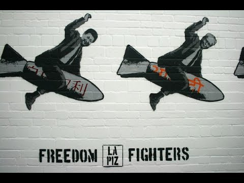 Lapiz paints Freedom Fighters for show in Wilhelmshaven