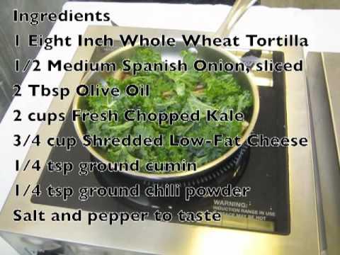 FBSJ Demo Carmelized Onion & Kale Quesadilla