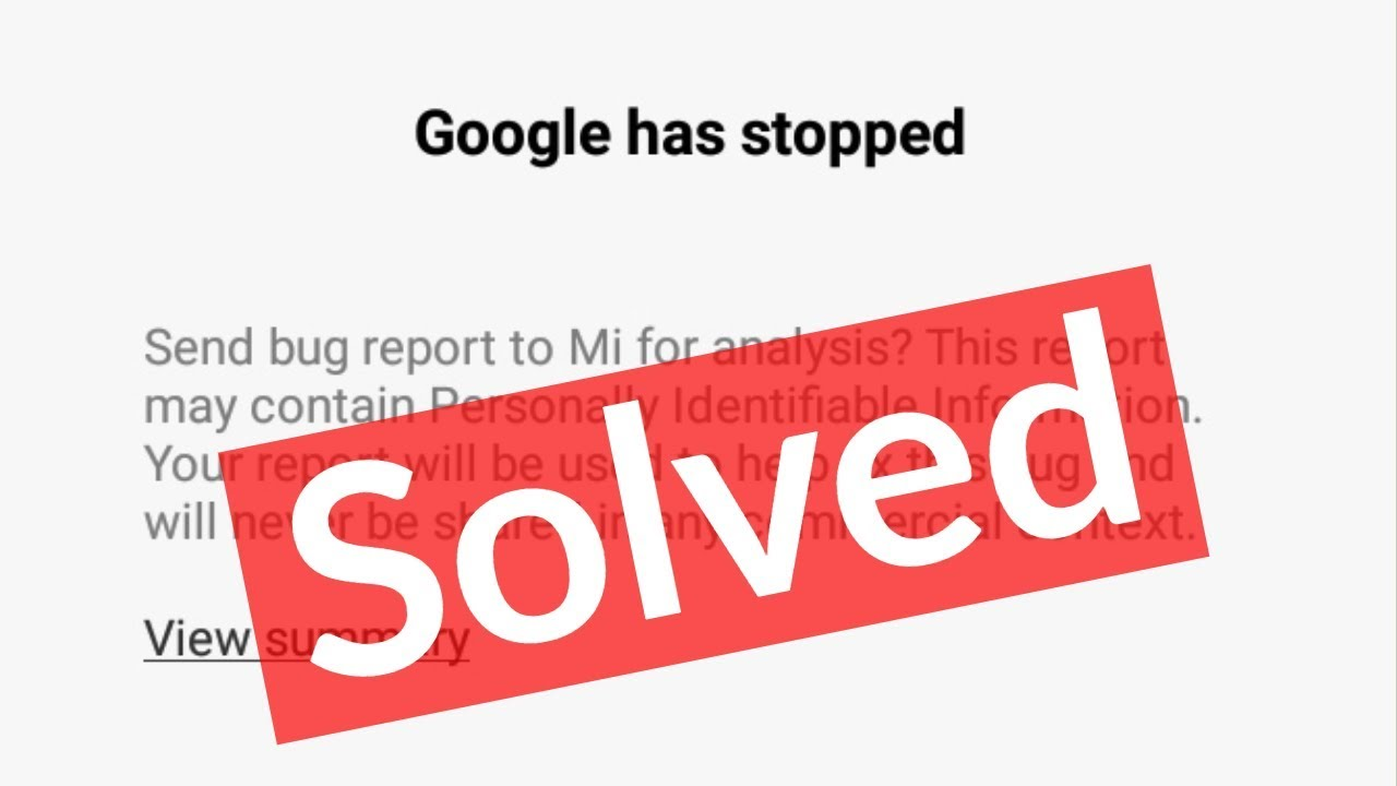 Fix Google Has Stopped Working Error In Android Mobile-2019
