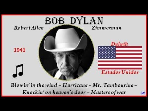 Bob Dylan(1941)Doluth(USA) Blowin' in the win-Hurricane-Knockin on ...-Masters of war-Mr. Tambourine