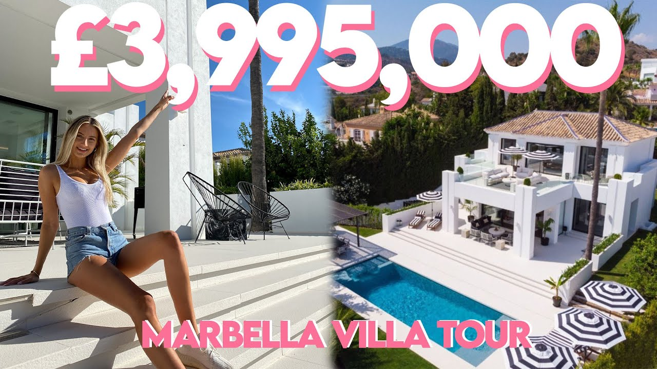 €3,995,000 MARBELLA VILLA TOUR | INSANE ENTERTAINMENT FLOOR + INTERIOR DESIGN GOALS!!