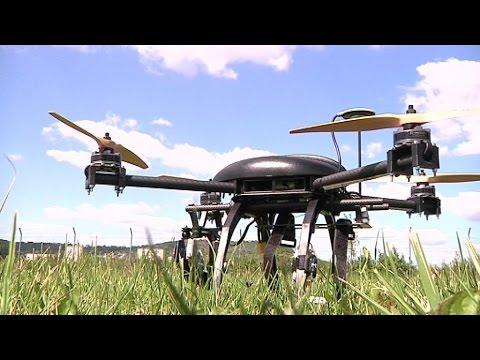 test drone r'bird black master dm240 noir