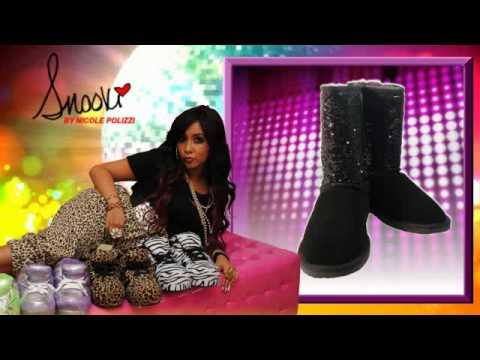 f2afb9286f7322 Snooki Sheepskin Black Sequin Boots - Snooki Slippers - YouTube