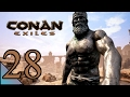 Conan Exiles 28:  Putting a thrall on the wheel of pain.  Let's Play Conan Exiles Gameplay
