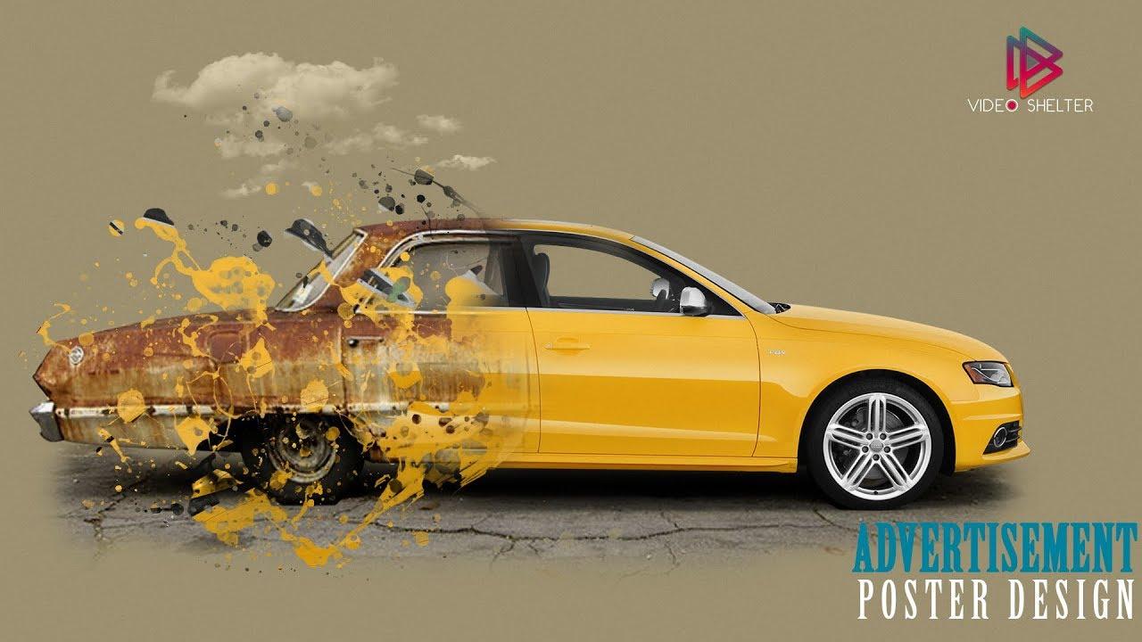 Adobe Photoshop Tutorial | How to design Car advertisement ...
