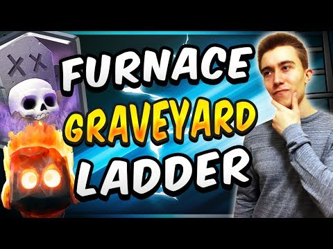 NEW & IMPROVED! FURNACE GRAVEYARD TROPHY PUSHING DECK! — Clash Royale