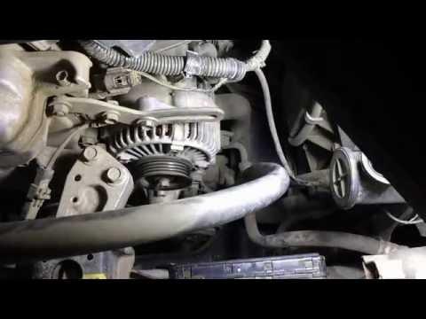 Замена помпы на двигателе Тойота Королла Спасио NZE121 2002 года  Toyota Corolla Spacio