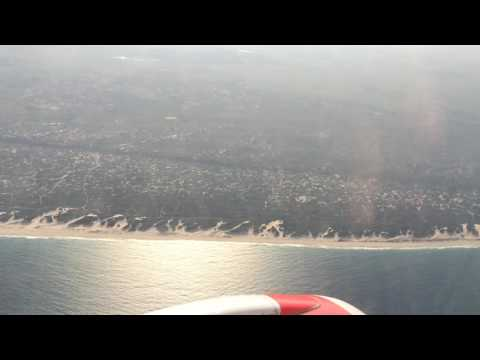 Left turn above the coast of Mozambique | Kenya Airways 2015
