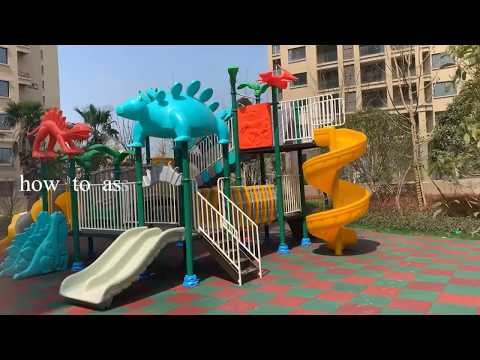 KidsPlayPlay-How To Install The Outdoor Playground Equipment Sample Item TQ-ZLJ1104