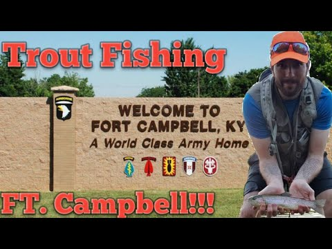 Trout fishing on Fort Campbell