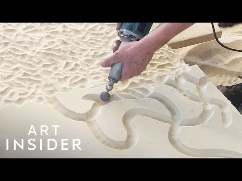Complex Designs Carved In Sand