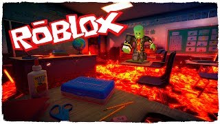 👉 ¡EL SUELO ES LAVA EN ROBLOX! - THE FLOOR IS LAVA CHALLENGE