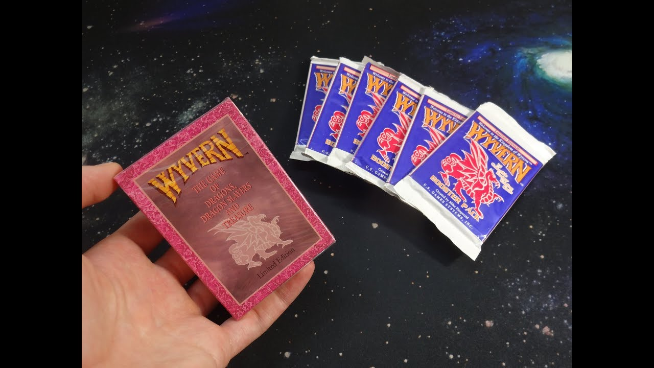 12 DECKS LIMITED EDITION STARTER DECK DISPLAY WYVERN CCG