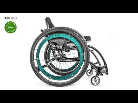 Rollstuhl sinus mit moveo Sitzsystem (Dynamischer Sitz)
