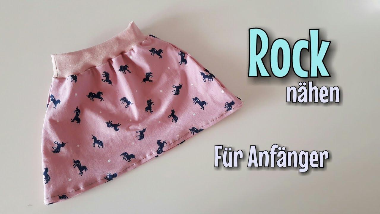 Rock Nähanleitung - Für Anfänger - OHNE Schnittmuster - Nähtinchen ...
