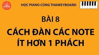 #8 🎹 TỰ HỌC PIANO | Cách Đàn Các Nốt Móc và Mẫu Luyện Ngón Số 8
